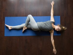 Lower back stretching